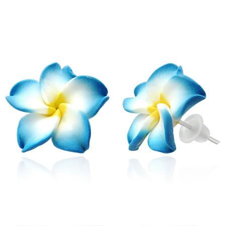 Blau Weiß Plumeria