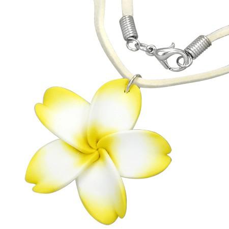 Gelbe Plumeria Halskette