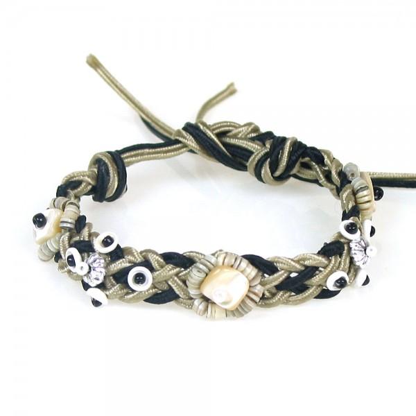 Makramee Muschel Armband