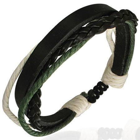Grün Schwarzes Surferarmband