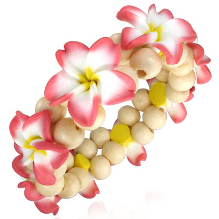 Pink Plumeria Armband