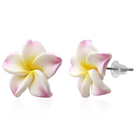Gelb Rosa Hawaii Ohrstecker