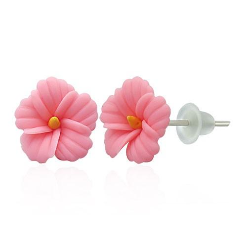 Hibiskus Hawaiiblüten Ohrstecker