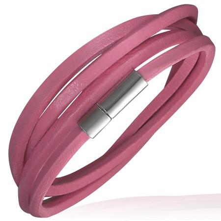 Rosa Multi Wickelarmband