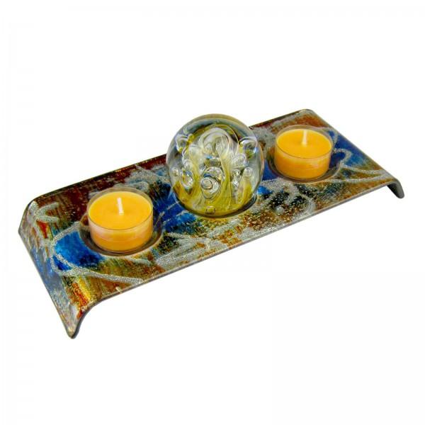 Traumkugel Teelichthalter aus Glas