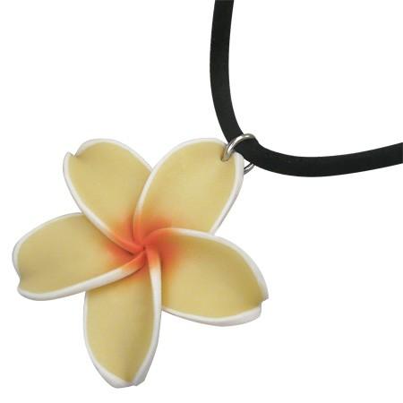 Yellow Frangipani Halskette